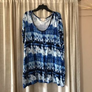 Michael Kors Tie dyed effect tunic top EUC